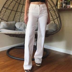 American Eagle Wide Leg Super Stretch Jeans -White